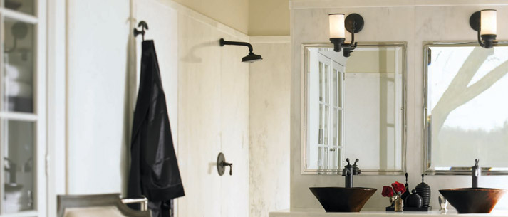 Luxury Bath Fixtures Products GINGER - Ginger bathroom lighting