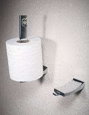 Pivoting Toilet Tissue Holder